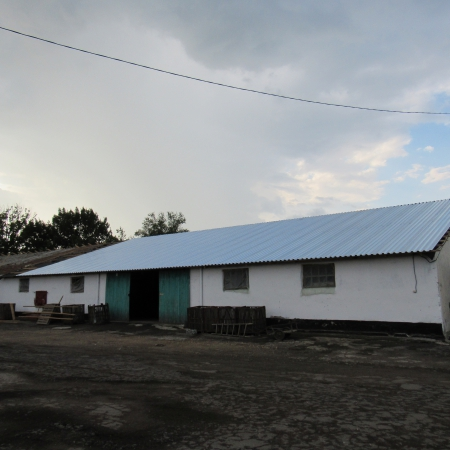 Крыша из профнастила ПК-45, Цинк 0,45