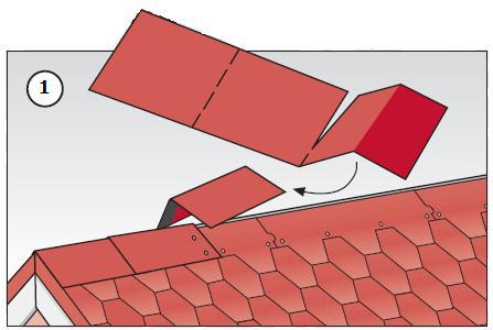 Монтаж кровли на коньке крыши