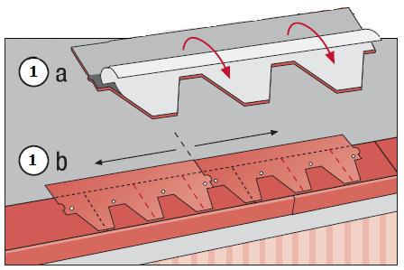 Схема монтажа рядовой черепицы