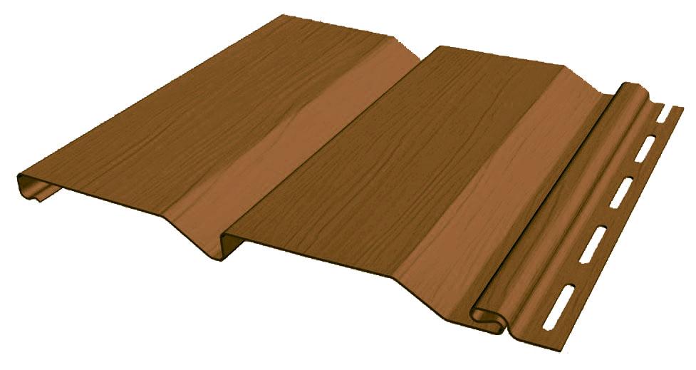 Срез Винилового сайдинга коричневого цвета
