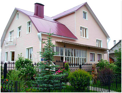 Пример фасадного сайдинга в Одессе