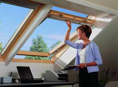 Деревянное окно GPL с двумя типами открывания