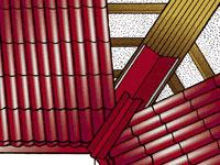 Схема крепления металлочерепицы на внутренних стыках