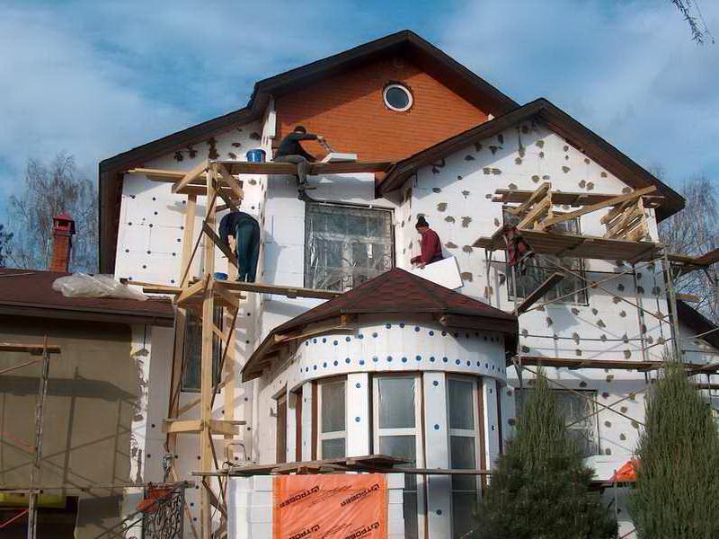 Фасадные работы частных домов