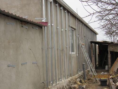 Установка сайдинга на объекте в Николаеве