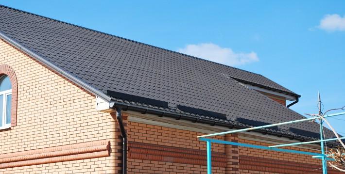 Металлочерепица - правый скат крыши