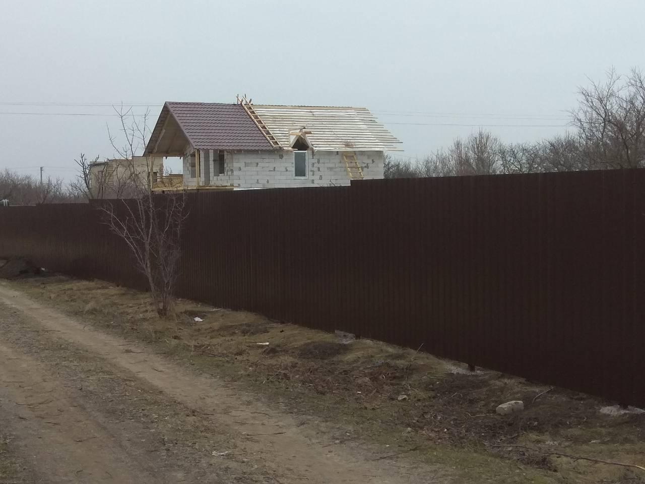 Фото Забор из профнастила