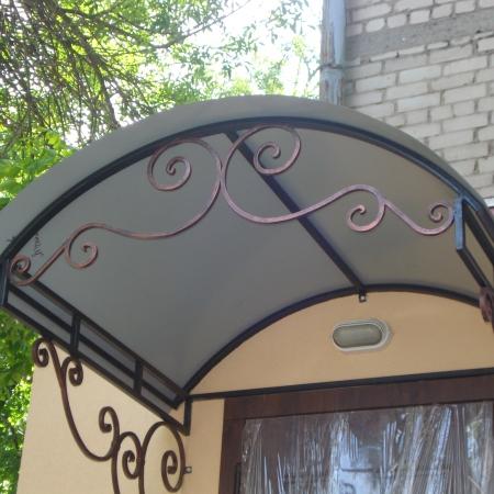Козырек с металлоконструкциями в Одессе
